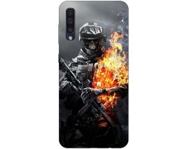 Husa Silicon Soft Upzz Print Samsung Galaxy A50 Model Soldier
