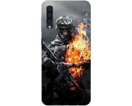 Husa Silicon Soft Upzz Print Samsung Galaxy A50 Model Soldier