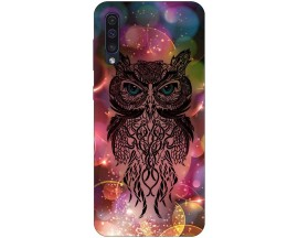 Husa Silicon Soft Upzz Print Samsung Galaxy A50 Model Sparkle Owl