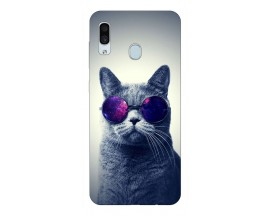 Husa Silicon Soft Upzz Print Samsung Galaxy A30 Model Cool Cat