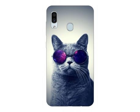 Husa Silicon Soft Upzz Print Samsung Galaxy A30 Model Cool Cat