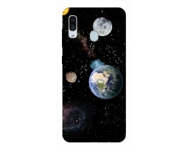 Husa Silicon Soft Upzz Print Samsung Galaxy A30 Model Earth