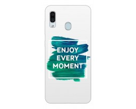 Husa Silicon Soft Upzz Print Samsung Galaxy A30 Model Enjoy
