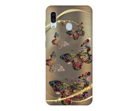 Husa Silicon Soft Upzz Print Samsung Galaxy A30 Model Golden Butterflies