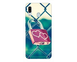 Husa Silicon Soft Upzz Print Samsung Galaxy A30 Model Heart Lock