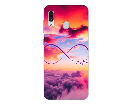 Husa Silicon Soft Upzz Print Samsung Galaxy A30 Model Infinity