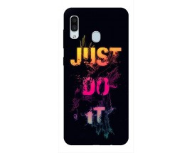 Husa Silicon Soft Upzz Print Samsung Galaxy A30 Model Jdi