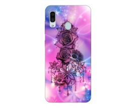 Husa Silicon Soft Upzz Print Samsung Galaxy A30 Model Neon Rose