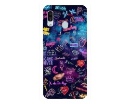 Husa Silicon Soft Upzz Print Samsung Galaxy A30 Model Neon