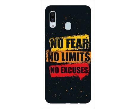 Husa Silicon Soft Upzz Print Samsung Galaxy A30 Model No Fear