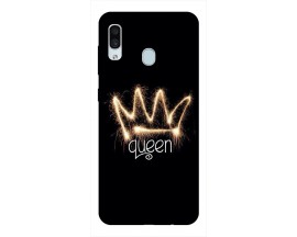 Husa Silicon Soft Upzz Print Samsung Galaxy A30 Model Queen