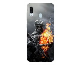 Husa Silicon Soft Upzz Print Samsung Galaxy A30 Model Soldier