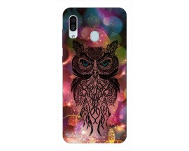 Husa Silicon Soft Upzz Print Samsung Galaxy A30 Model Sparkle Owl
