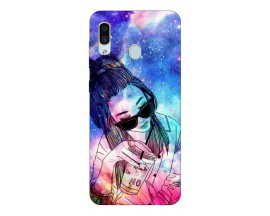 Husa Silicon Soft Upzz Print Samsung Galaxy A30 Model Universe Girl