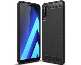 Husa Spate Forcell Carbon Pro Samsung Galaxy A50  Negru Silicon