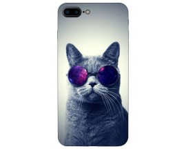 Husa Silicon Soft Upzz Print iPhone 7/8 Plus Model Cool Cat