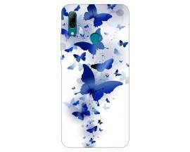 Husa Silicon Soft Upzz Print Huawei P Smart 2019 Model Blue Butterflies