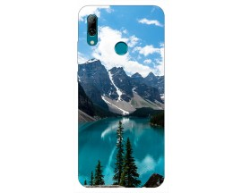 Husa Silicon Soft Upzz Print Huawei P Smart 2019 Model Blue