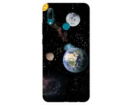 Husa Silicon Soft Upzz Print Huawei P Smart 2019 Model Earth