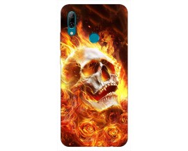 Husa Silicon Soft Upzz Print Huawei P Smart 2019 Model Flame Skull