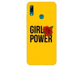 Husa Silicon Soft Upzz Print Huawei P Smart 2019 Model Golden Butterfly