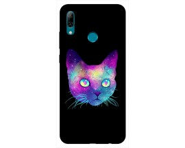 Husa Silicon Soft Upzz Print Huawei P Smart 2019 Model Neon Cat
