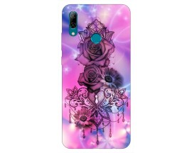 Husa Silicon Soft Upzz Print Huawei P Smart 2019 Model Neon Rose