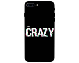 Husa Silicon Soft Upzz Print iPhone 7/8 Plus Model Crazy