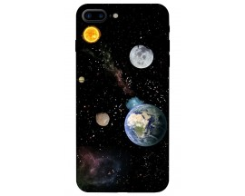 Husa Silicon Soft Upzz Print iPhone 7/8 Plus Model Earth