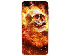 Husa Silicon Soft Upzz Print iPhone 7/8 Plus Model Flame Skull
