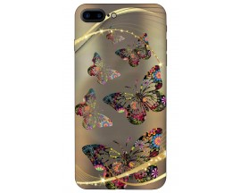 Husa Silicon Soft Upzz Print iPhone 7/8 Plus Model Golden Butterfly