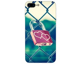 Husa Silicon Soft Upzz Print iPhone 7/8 Plus Model Heart Lock