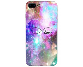 Husa Silicon Soft Upzz Print iPhone 7/8 Plus Model Neon Love
