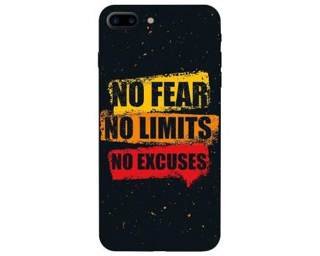 Husa Silicon Soft Upzz Print iPhone 7/8 Plus No Fear