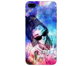 Husa Silicon Soft Upzz Print iPhone 7/8 Plus Model Universe girl