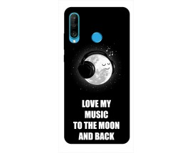 Husa Silicon Soft Upzz Print Huawei P30 Lite Model Music