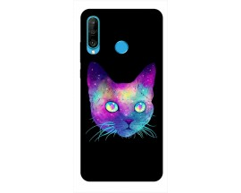 Husa Silicon Soft Upzz Print Huawei P30 Lite Model Neon Cat