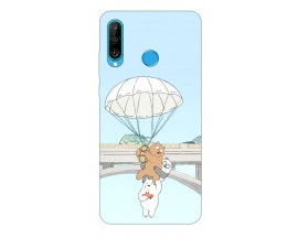 Husa Silicon Soft Upzz Print Huawei P30 Lite Model Three Bears