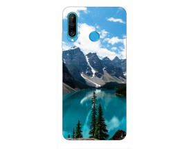 Husa Silicon Soft Upzz Print Huawei P30 Lite Model Blue