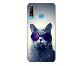 Husa Silicon Soft Upzz Print Huawei P30 Lite Model Cool Cat