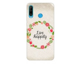 Husa Silicon Soft Upzz Print Huawei P30 Lite Model Happily