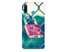 Husa Silicon Soft Upzz Print Huawei P30 Lite Model Heart Lock
