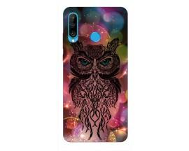 Husa Silicon Soft Upzz Print Huawei P30 Lite Model Sparkle Owl