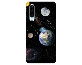 Husa Silicon Soft Upzz Print Huawei P30 Model Earth