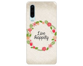 Husa Silicon Soft Upzz Print Huawei P30 Model Happily
