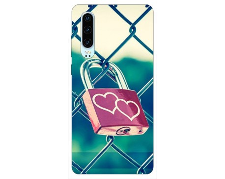 Husa Silicon Soft Upzz Print Huawei P30 Model Heart Lock