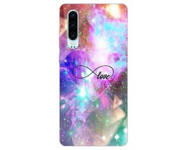 Husa Silicon Soft Upzz Print Huawei P30 Model Neon Love
