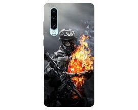 Husa Silicon Soft Upzz Print Huawei P30 Model Solider
