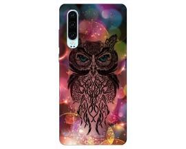 Husa Silicon Soft Upzz Print Huawei P30 Model Sparkle Owl
