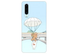 Husa Silicon Soft Upzz Print Huawei P30 Model Three Bears